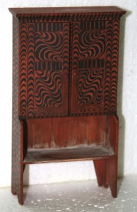 Painted Cabinet/bench by James Hastrich