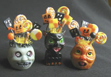 Lantern head candy containers by Betsy Niederer.