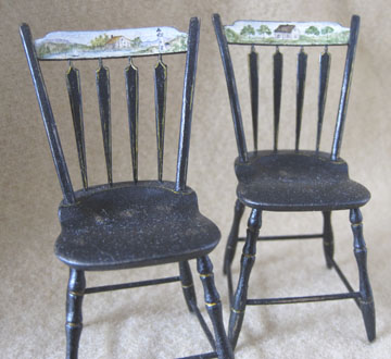 Chairs decorated by Mary Grady O'Brien
