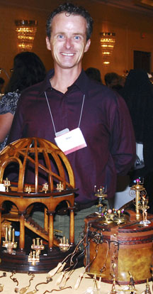 Mike Barbour at his table, Guild Show 2011