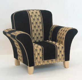 A modern chair, the Guild School class project that will reveal the secrets of immaculate upholstery.