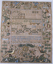 Sampler from the Betty Ring collection.