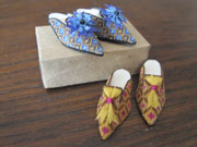 1/12 scale needlepoint shoes class with Patricia Richards, IGMA Artisan.