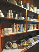 Tinware in the Pittock Mansion pantry.