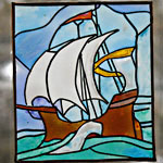 Sailing Ship Stained Glass Window, with Sue Veeder.