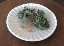 Aquatic scene in a dish by Japanese artist Miyuki Kobayashi.