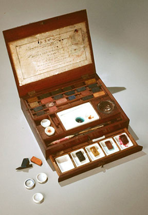 18th century English paint box, Carol Hardy class project at Colonial Williamsburg Study Program.