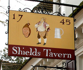 Tavern sign, Colonial Williamsburg, Phyllis Hawkes class project.