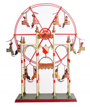 Toy Ferris Wheel from the Jerni Collection at the New-York Historical Society. Photo by the NY Historical Society