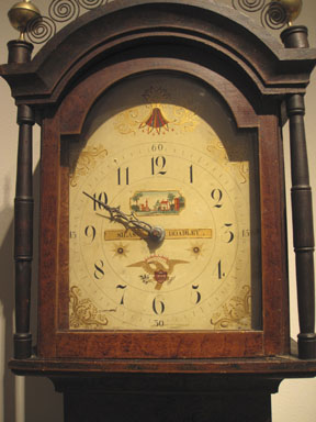 Early American clock, life size, Christie's New York, 2013.