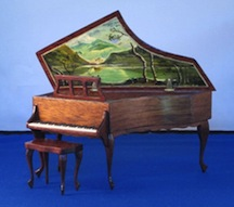 A 1/12 scale piano by Ralph Partelow available from Lovely Things-Childhood Memories.