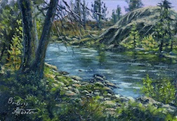 Landscape painting in 1/12 scale by Barbara Stanton.