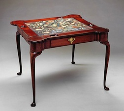Game table, The Museum of Fine Arts; The Bayou Bend Collection, gift of Miss Ima Hogg.
