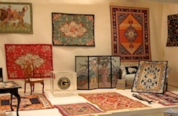 A selection of needlework in 1/12 scale by Phyllis Stafford available in kit form or as finished pieces.