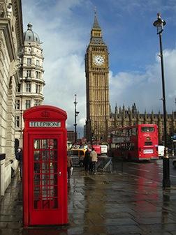 Iconic London landmarks.