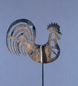 Rooster weather vane, class project for Colonial Williamsburg Study Program instructor Diane Almeyda.