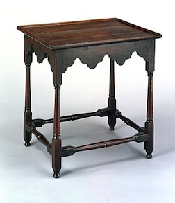 Tea table, class project for Colonial Williamsburg Study Program instructor Dick Hardy.