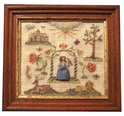 ...that awakened my interest in 17th century needlework and led me to create this.
