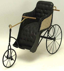 A bath chair made by British artists Colin and Yvonne Roberson.