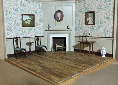 Build an 18th century Parlor in a corner room box with Peter Kendall at the 35th Anniversary Guild Show.