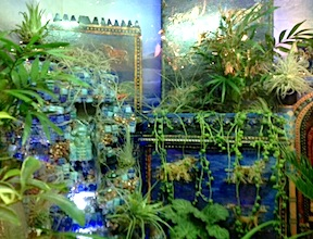 The Hanging Gardens of Babylon in 1/12 scale as interpreted by Pamela Goldman at the 2014 Philadelphia Flower Show.