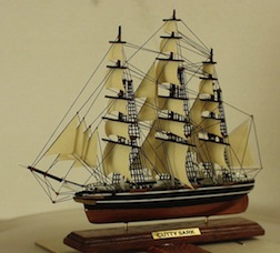 A scale model of the Cutty Sark created by Ron Stetkewicz, Sr., among others will be on display in the exhibit at the 35th Anniversary Guild Show.