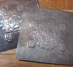 Learn how to punch 1/12 scale tin panels for a pie safe or other project with Bill Hurd.