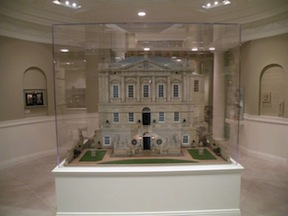 Spencer House on display in the Kathleen Savage Browning Miniatures Collection at the Kentucky Gateway Museum Center.