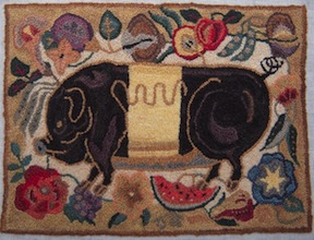 French knot rug by Pat Hartman in the Gallery on the Fine Miniatures Forum.