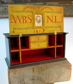 A rather neat miniature chest with a unique opening mechanism by James Hastrich.