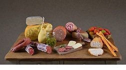 A veritable feast, in miniature, by Christina Minischetti, IGMA Fellow member.