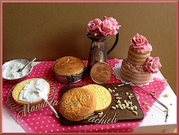 A delectable preparation board in 1/12 scale by IGMA member Manuela Michieli.