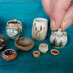 Learn to throw miniature pots with the Hairy Potter in this class preceding the Guild Show.