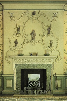In replicating this Rococco Chimneypiece from the English Bedroom, students will learn the additive process of carving from Alison Ashby.