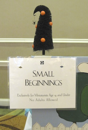 Small Beginnings, the special sales area for young collectors and their budgets.