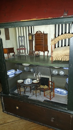 The 18th century dollhouse at the Van Cortlandt Mansion Museum.