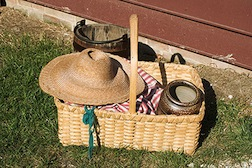 A market basket will be the first project made in Bonni Backe's basketmaking class.