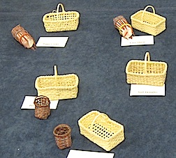 Some of the work of the basket makers from Bonni Backe's class.
