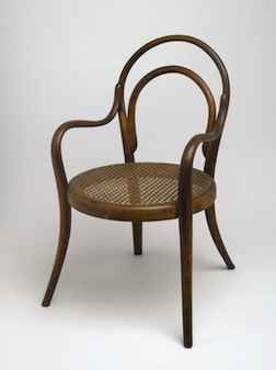 A Thonet child's bentwood armchair, inspiration for Bill Studebaker's Study Program class.