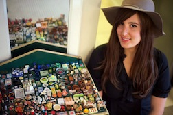 Kate Ünver with a collection of miniatures. Mark Makela for The New York Times.