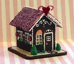 On Thursday, August 4, Teresa Layman will be teaching the construction of a charming miniature gingerbread house.
