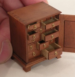 This minute spice chest is the project for Bill Robertson's Williamsburg class.