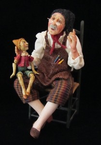 Jeanne Rullie will be teaching the sculpting of Geppetto in a four day class at the 2017 Guild Show.