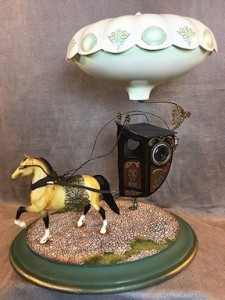 Michael Yurkovic will be teaching the construction of this fanciful horse and carriage vignette in a 3 day class at the 2017 Guild Show.
