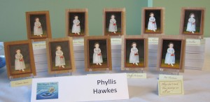 The work of Phyllis Hawke's students at the graduation exhibit in 2015.