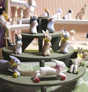 Jessica Weisel's charming toy bunny toys. Weazilla and all her toys and curiosities will be at table 81.