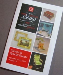 Guild Show class brochure, illustrating each class and show offering at the 2018 Guild Show in Hartford, CT, this September.