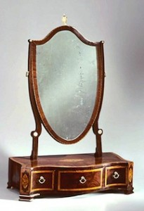 The dressing glass (mirror and drawer) originally made in South Carolina, that will be the inspiration for Bill Studebaker's class.