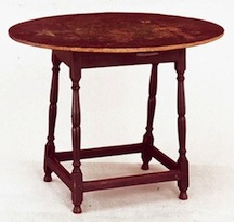 The 18th century New Hampshire side table that is the inspiration for Pete and Pam Boorum's class.